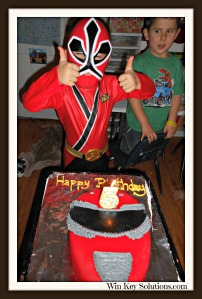 Power Ranger Birthday party 1