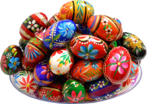 Wooden Easter eggs