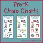 Pre K chore Chart